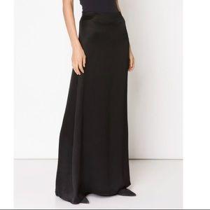 Ann Taylor black satin formal maxi skirt size 4